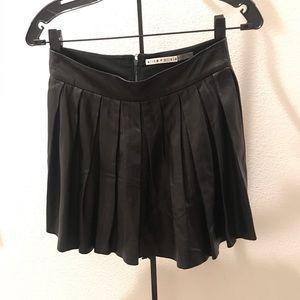 alice + olivia Leather Skirt